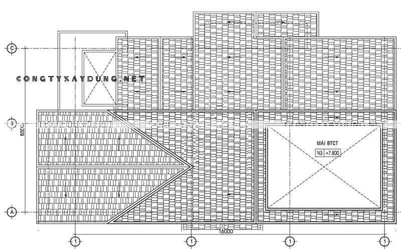 Biệt thự 2 tầng tân cổ điển 8x16m
