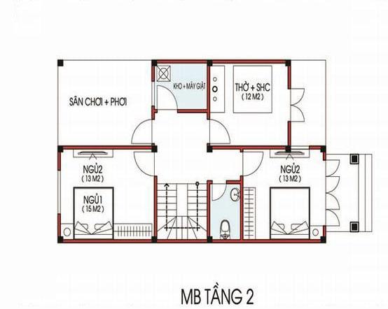 Bản vẽ thiết kế nhà rộng 7m dài 11m
