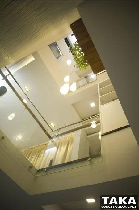 Nhà phố lệch tầng đẹp 5m 5x12