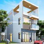 Thiết kế nhà phố 3 tầng 2 mặt tiền ngang 6m dài 20m