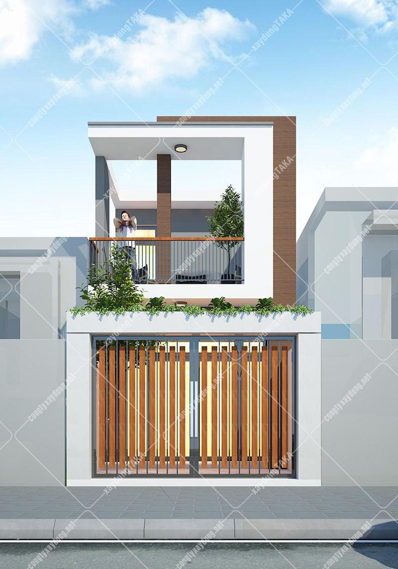 Mẫu thiết kế nhà ống 2 tầng đẹp đơn giản