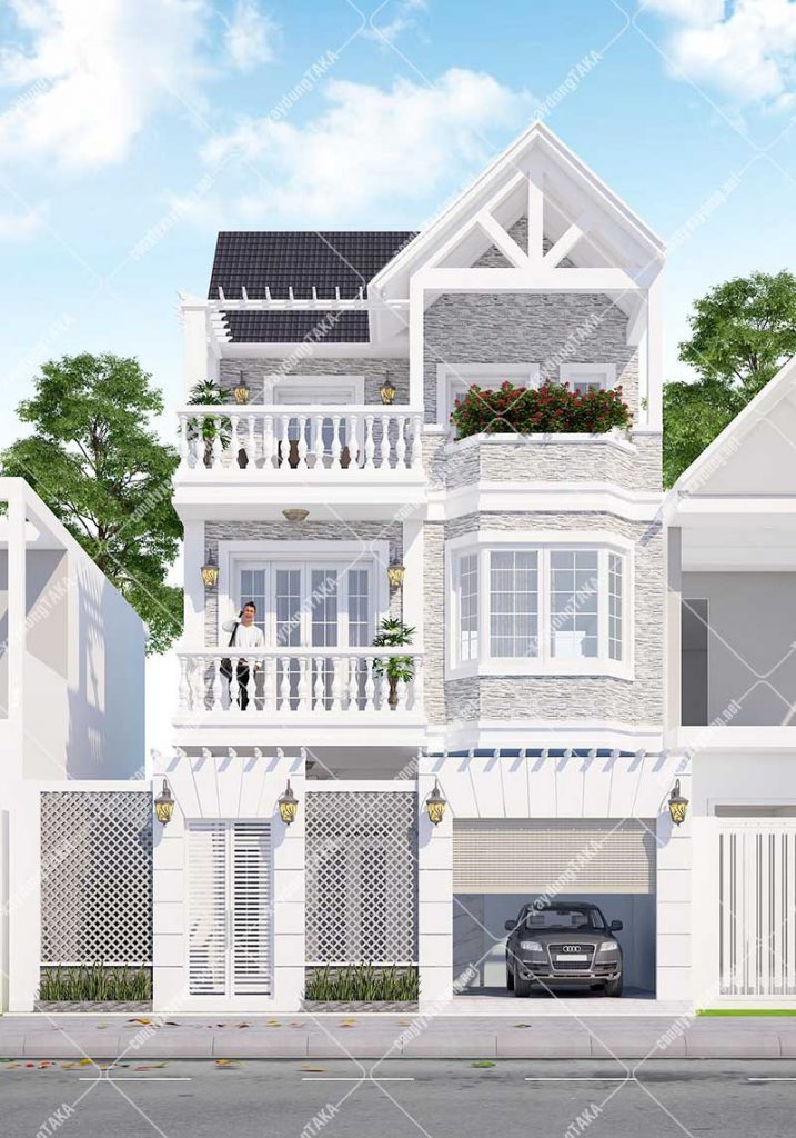 Mẫu thiết kế nhà phố tân cổ điển