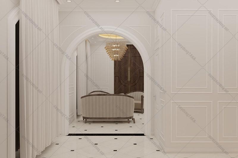 Thiết kế nhà 3 tầng 5x10 tân cổ điển