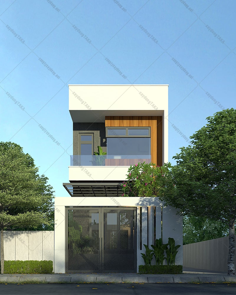 Thiết kế nhà ống 2 tầng 5x17m 3 phòng ngủ