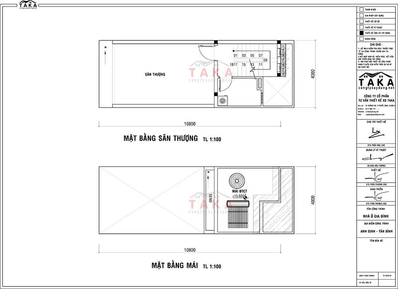 Mẫu thiết kế nhà ống 4x12m