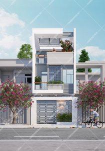 Mẫu thiết kế nhà phố 3 tầng rộng 5m dài 19m