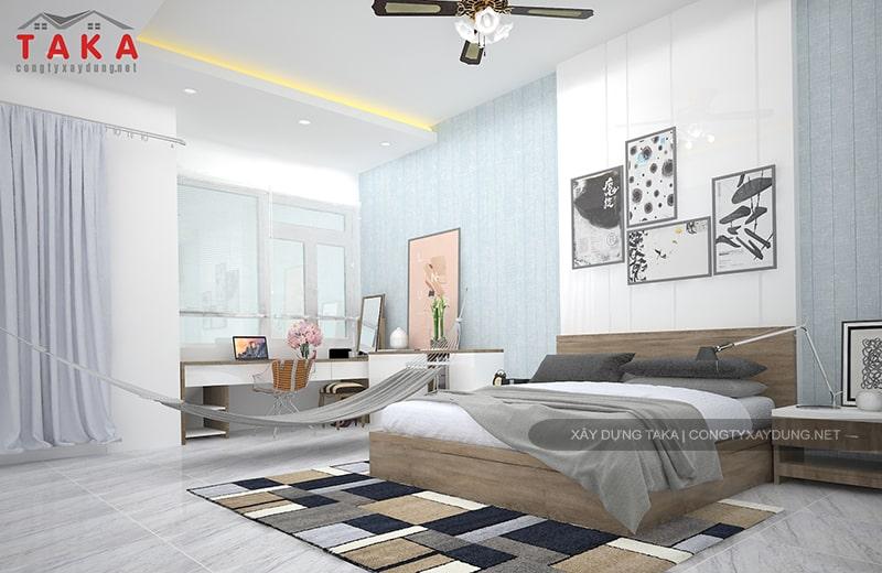 Thiết kế nội thất nhà phố 3 tầng 4x17m