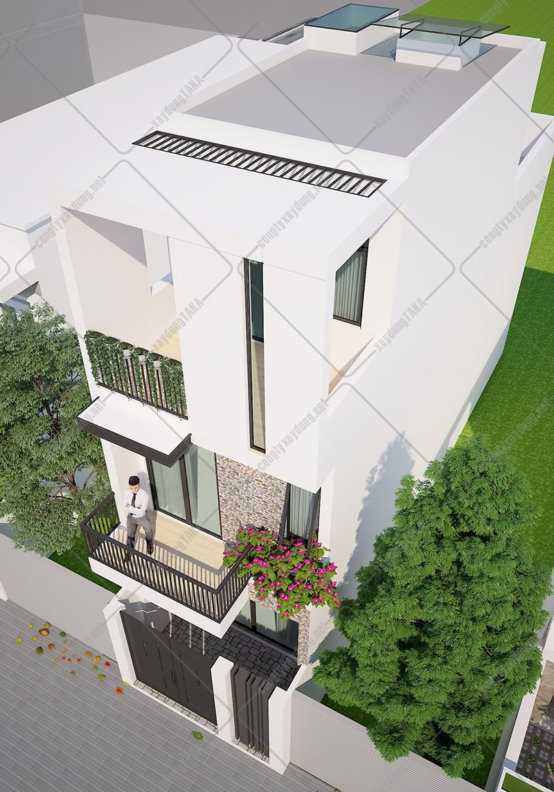 Thiết kế nhà phố lệch tầng 4x16m hiện đại