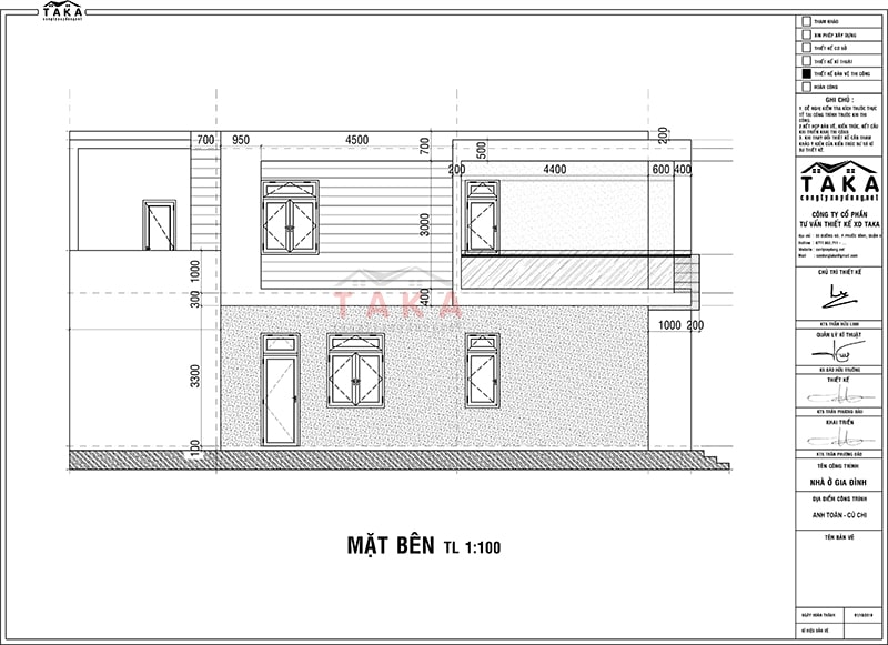 Bản vẽ mặt bằng nhà ống 1 trệt 1 lầu 3 phòng ngủ 4x13m