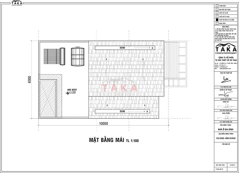 Bản vẽ mặt bằng thiết kế nhà ngang 6m dài 10m 1 trệt 2 lầu