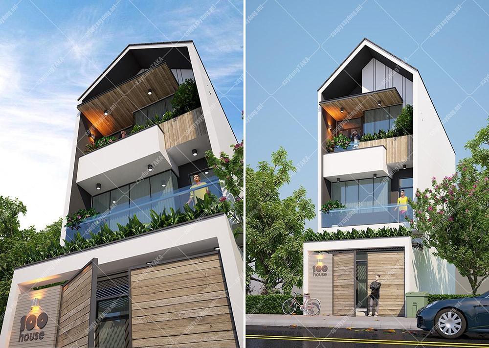 Mẫu thiết kế nhà phố 3 tầng