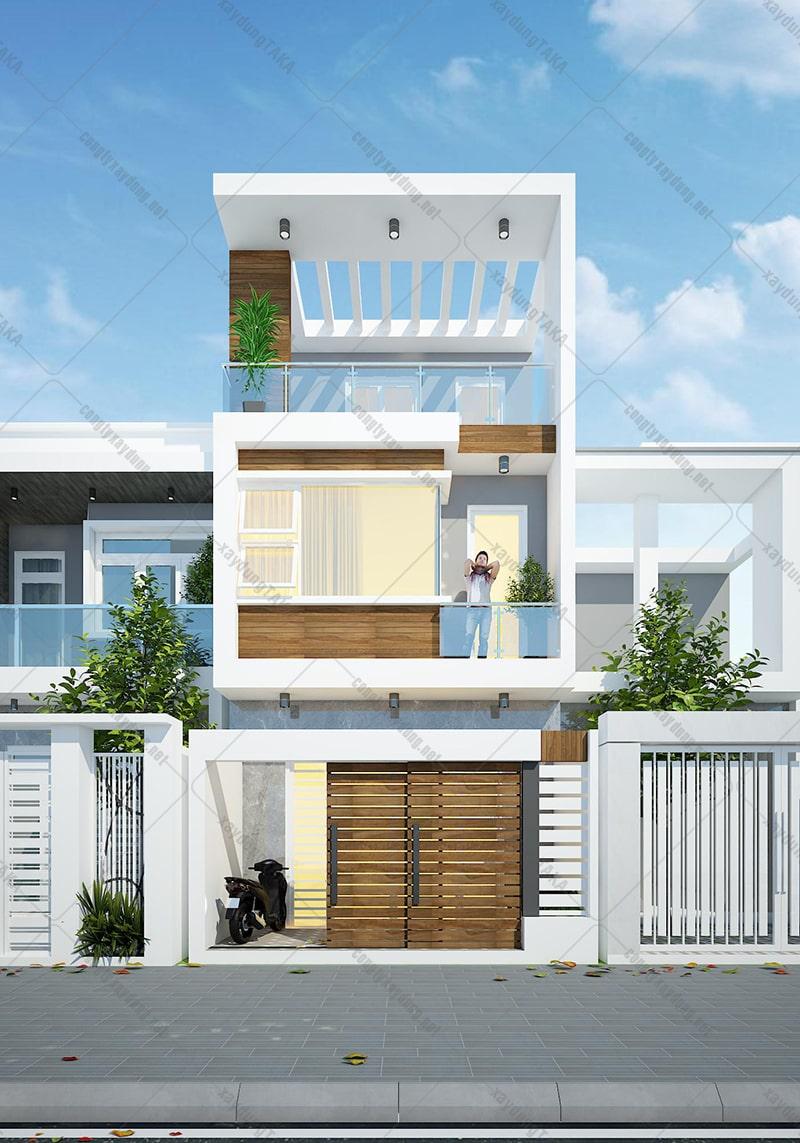 Mẫu thiết kế nhà phố 3 tầng đẹp