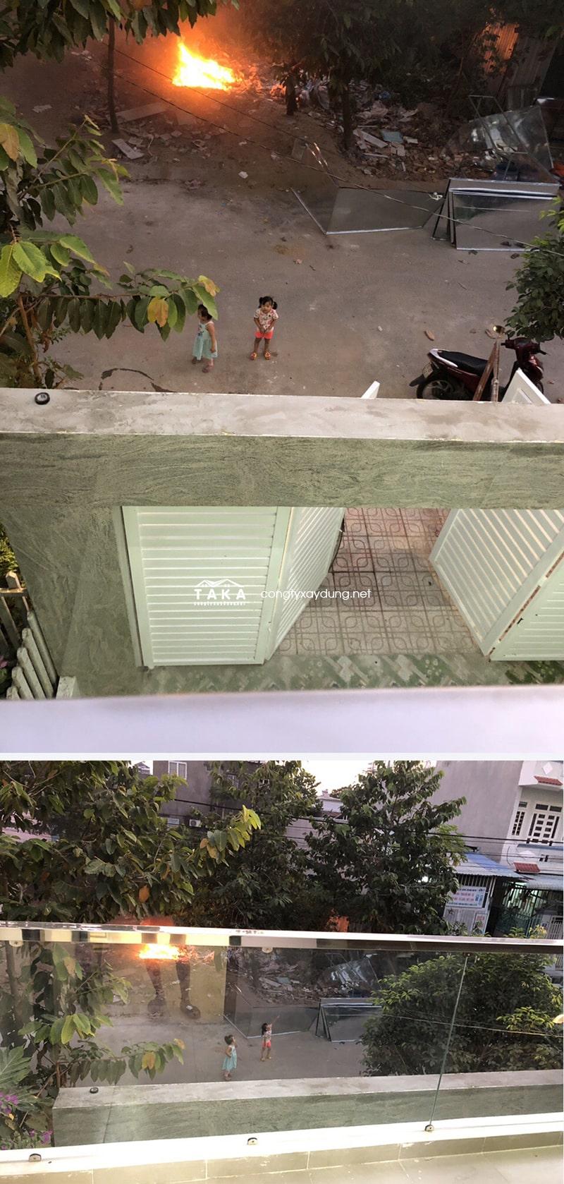 Thi công nhà phố 3 tầng 5x17m chị Hiền Dĩ An Bình Dương