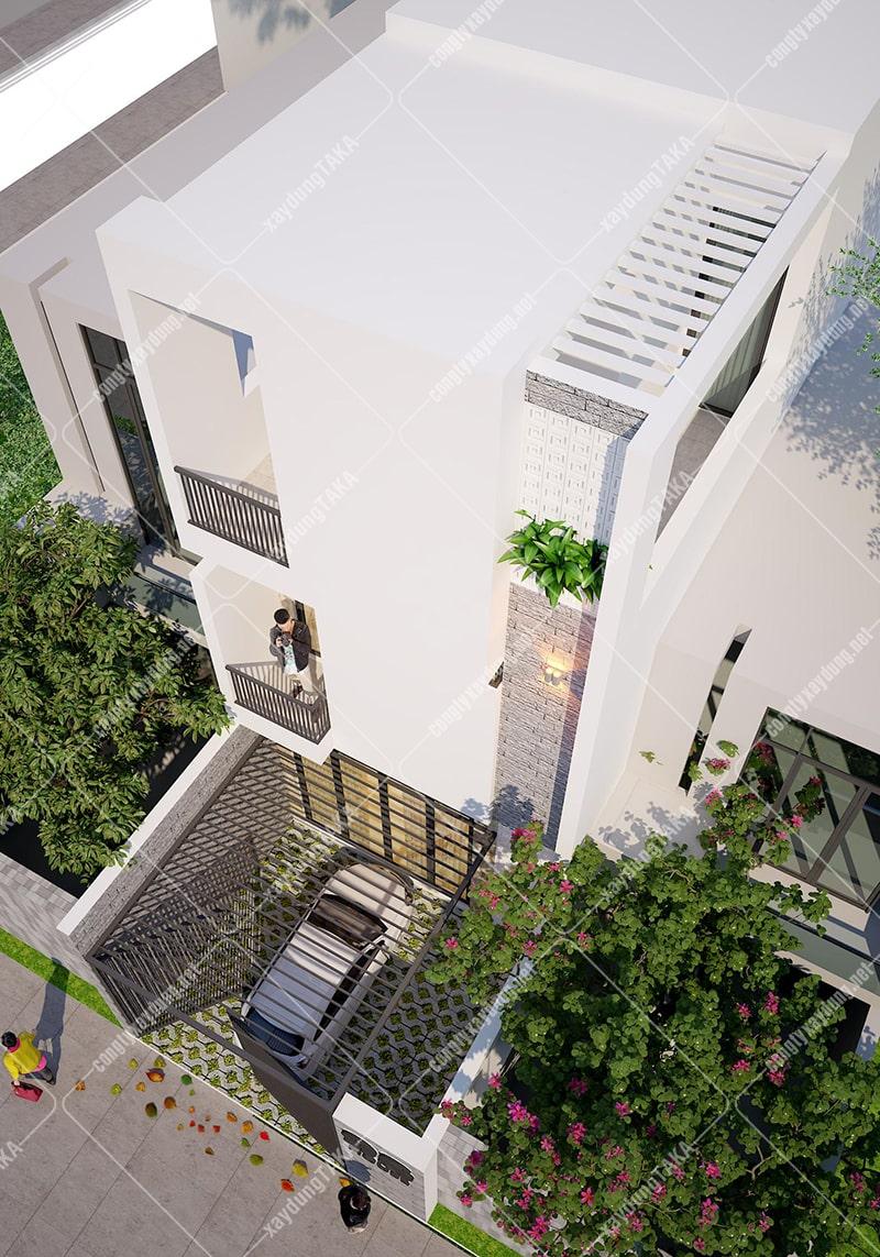 Thiết kế nhà phố 3 tầng 5x13m hiện đại