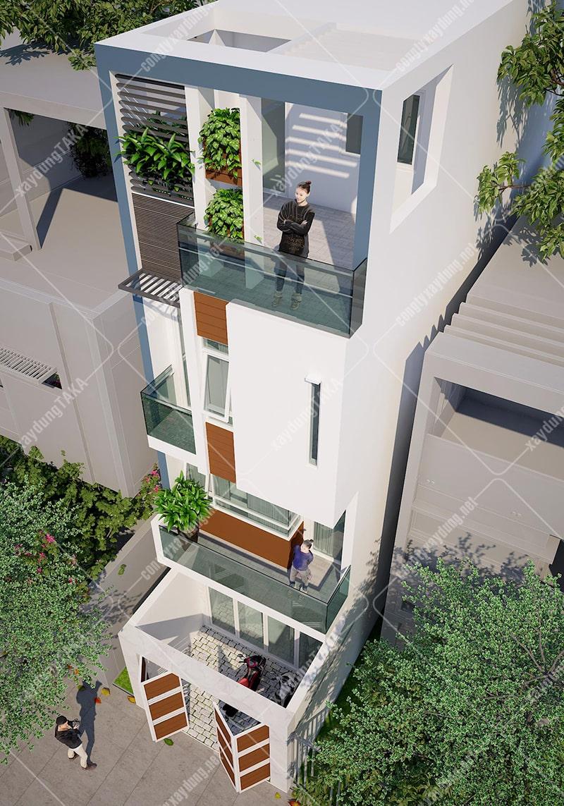 Thiết kế nhà phố 4 tầng 4x13m kết hợp kinh doanh