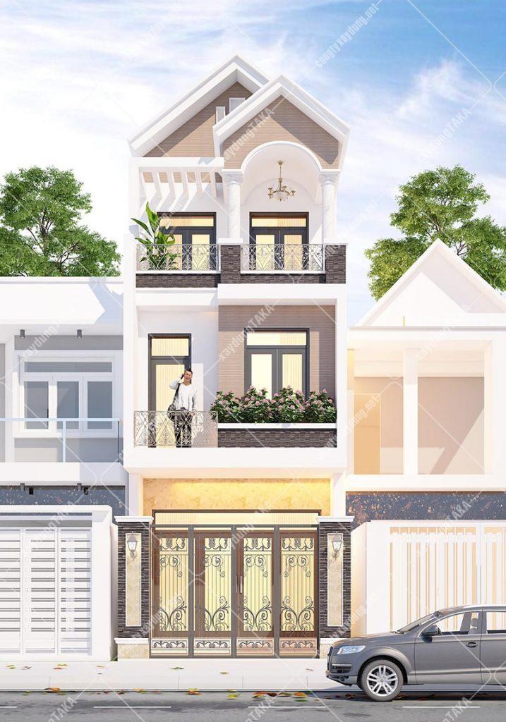 Thiết kế nhà phố 4x13m 1 trệt 2 lầu