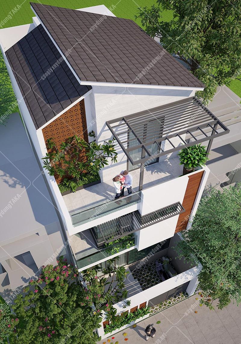 Thiết kế nhà phố ngang 6m dài 10m