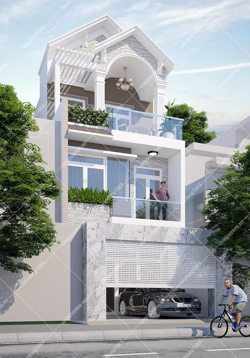 Thiết kế nhà phố chiều ngang 6m dài 16m