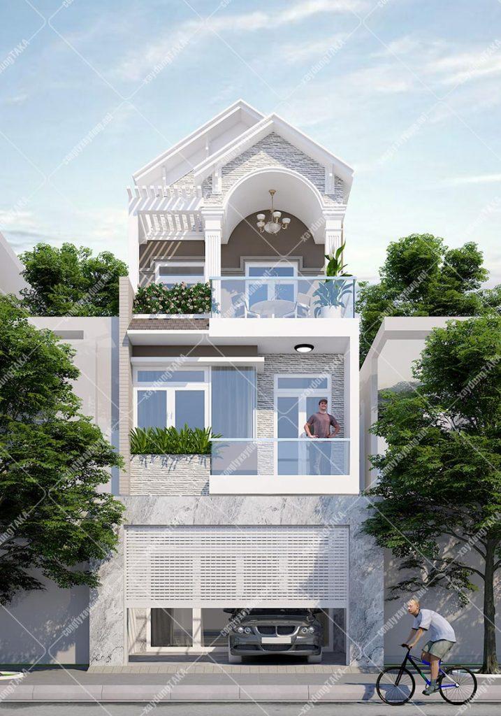 Thiết kế nhà phố ngang rộng 6m dài 16m