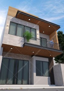 Mẫu thiết kế nhà phố vuông 2 tầng 7x7m