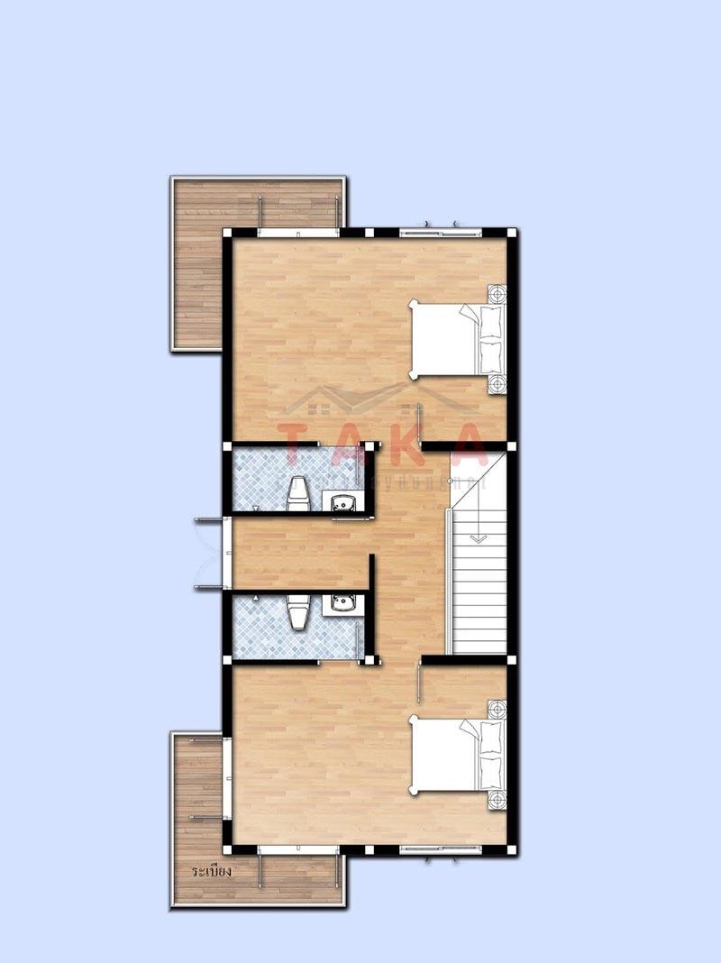 Bản vẽ mặt bằng mẫu nhà vuông 2 tầng 80m2 hiện đại