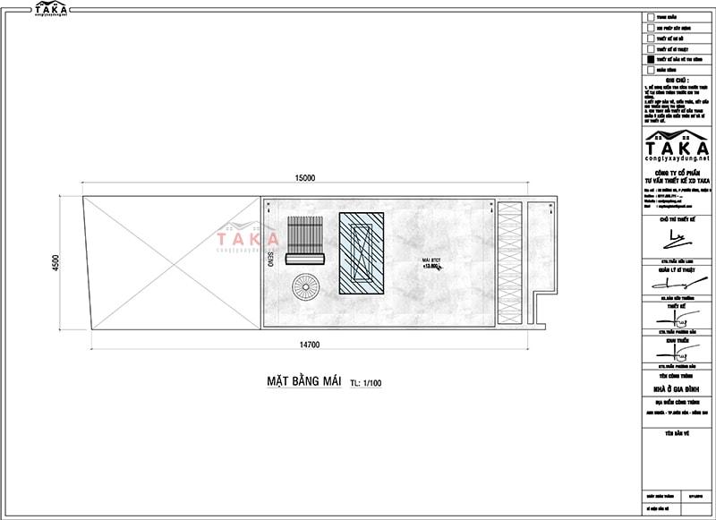 Bản vẽ mặt bằng nhà ống mặt tiền 4,5m dài 15m có gara