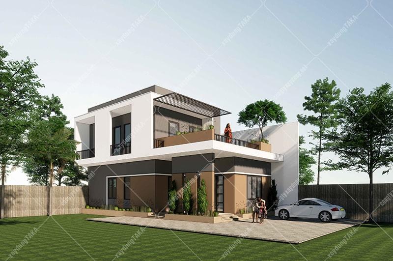 Thiết kế biệt thự 2 tầng 7x13m hiện đại