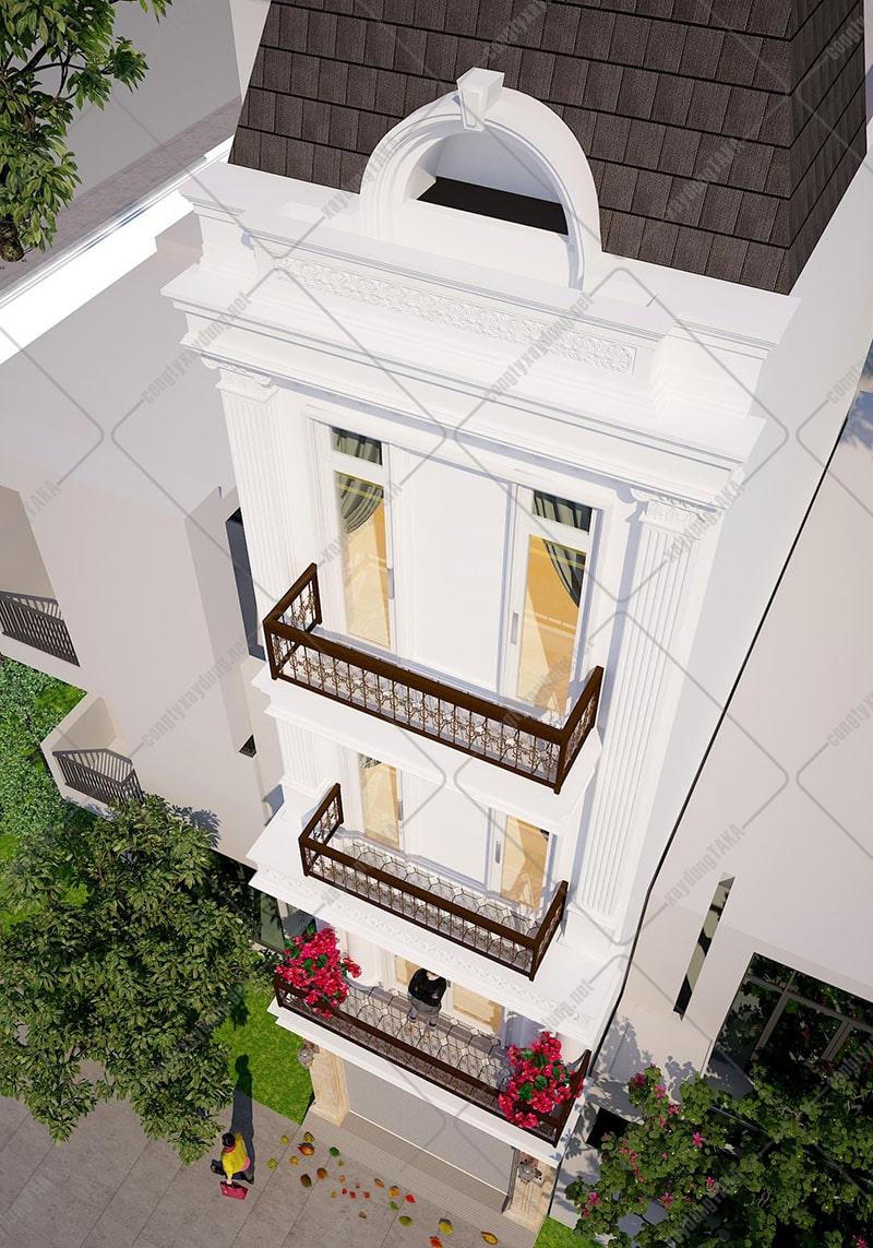 Thiết kế nhà phố 4 tầng 4x17m tân cổ điển