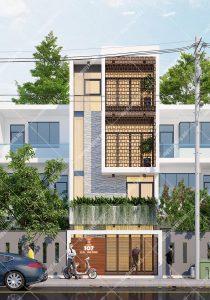 Mẫu thiết kế nhà phố 5x11m hiện đại