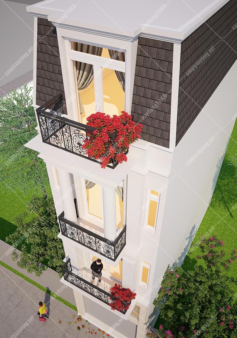 Thiết kế nhà phố tân cổ điển 4x13m City Land