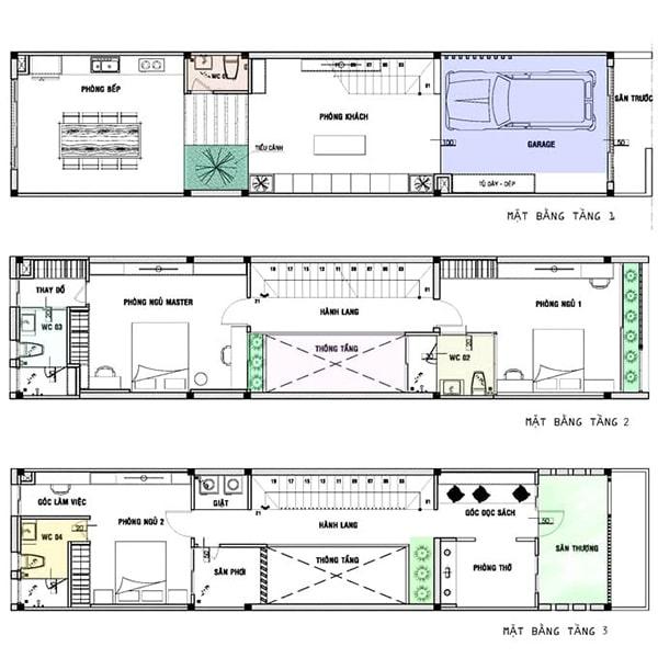 Nhà lệch tầng 5x20