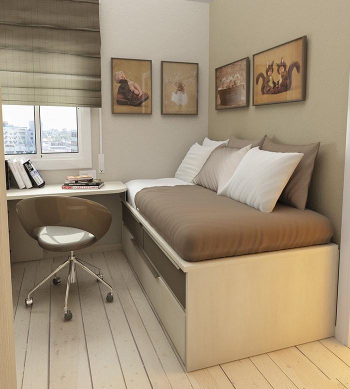 Mẫu thiết kế phòng ngủ nhỏ 6m2 - 10m2