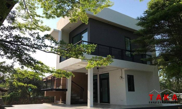 Thi công nhà 2 tầng hiện đại 2 phòng ngủ Châu Thành - Long An