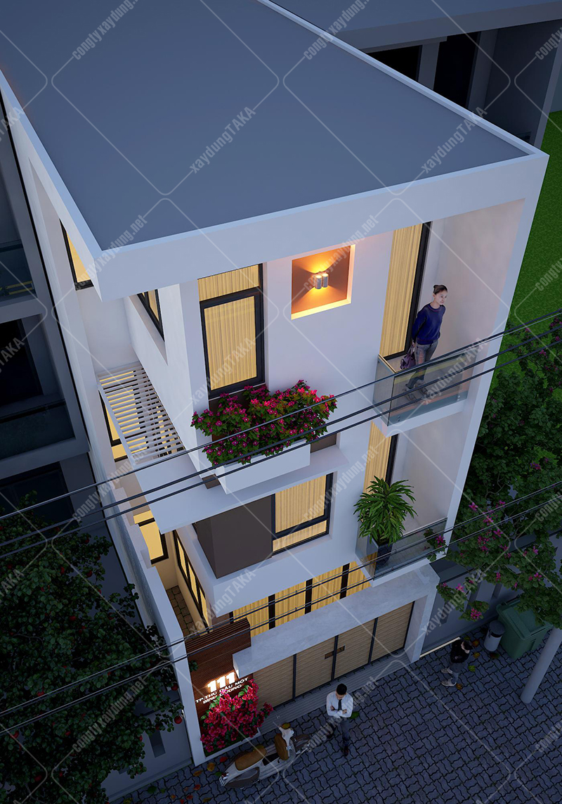 Thiết kế nhà ống 5x14m 3 tầng 4 phòng ngủ