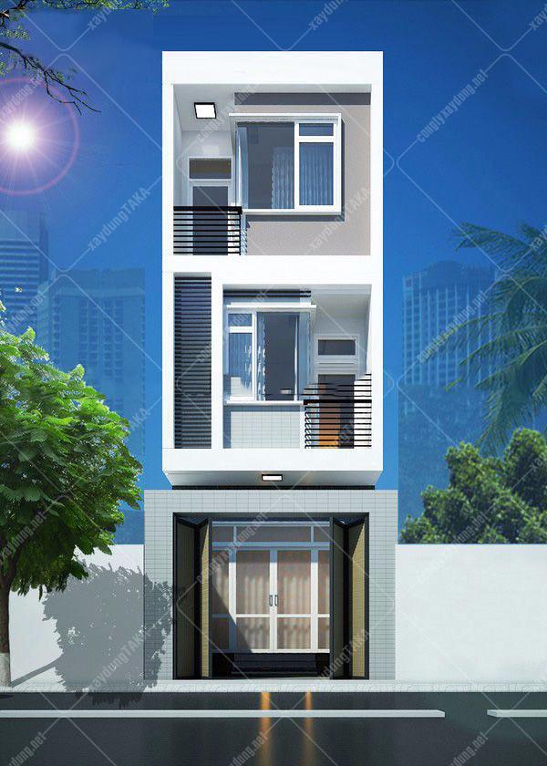 Thiết kế nhà phố 5x22m