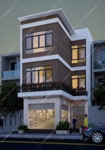 Thiết kế nhà phố 6x20m kết hợp ở và kinh doanh