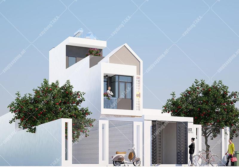 Thiết kế nhà phố mặt tiền 3,5m