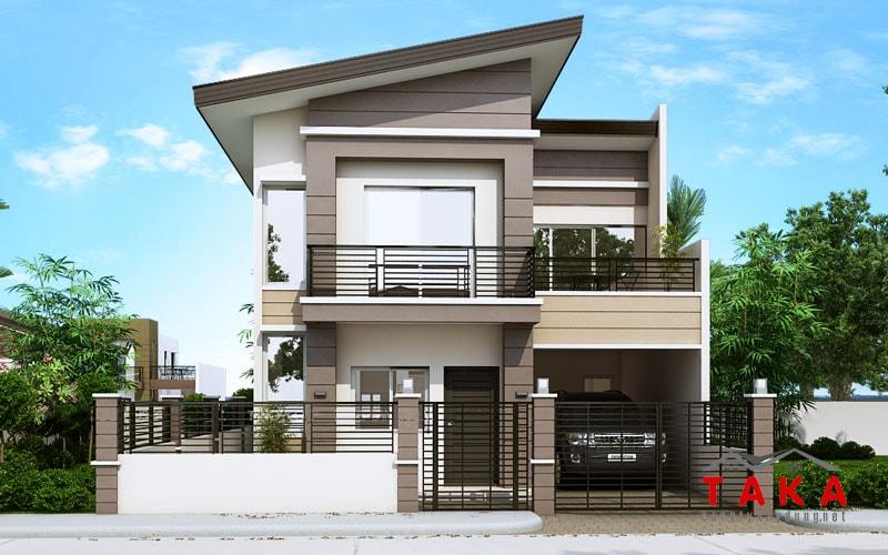 Thiết kế nhà vuông 8x9m