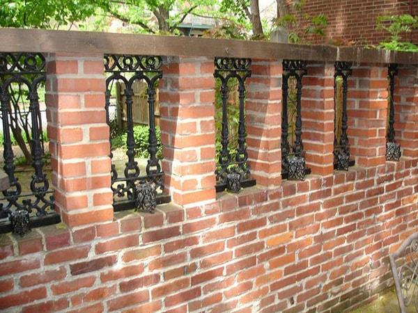 Mẫu hàng rào xây gạch đẹp