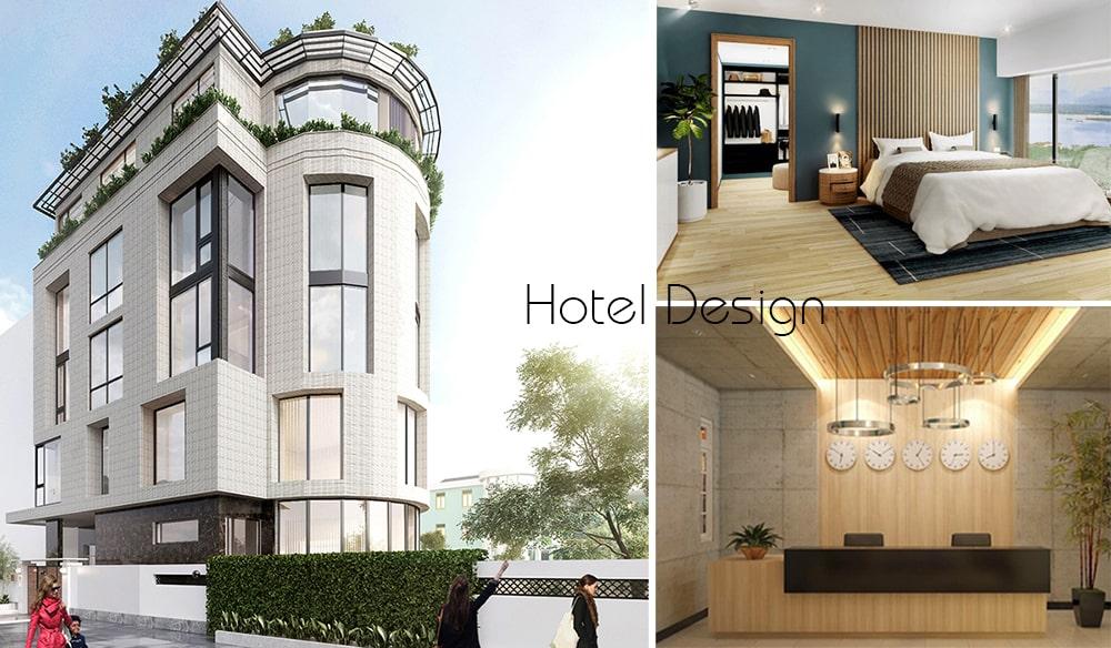 Thiết kế khách sạn mini 5x20 100m2 hiện đại