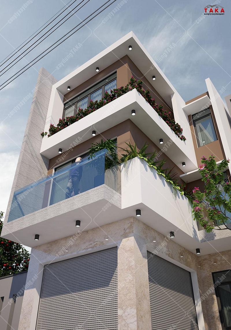 Nhà phố 3 tầng rộng 6m chữ L kinh doanh tầng trệt
