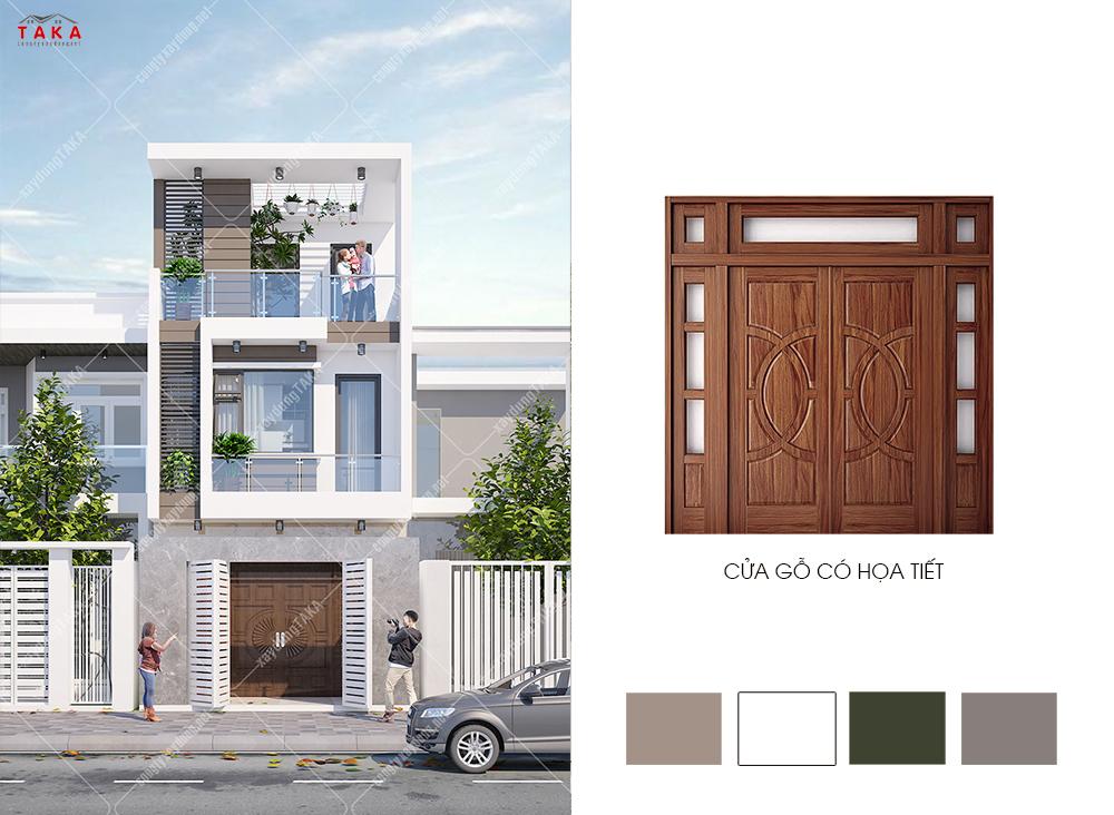 Cách phối màu sơn ngoại thất mặt tiền nhà đẹp