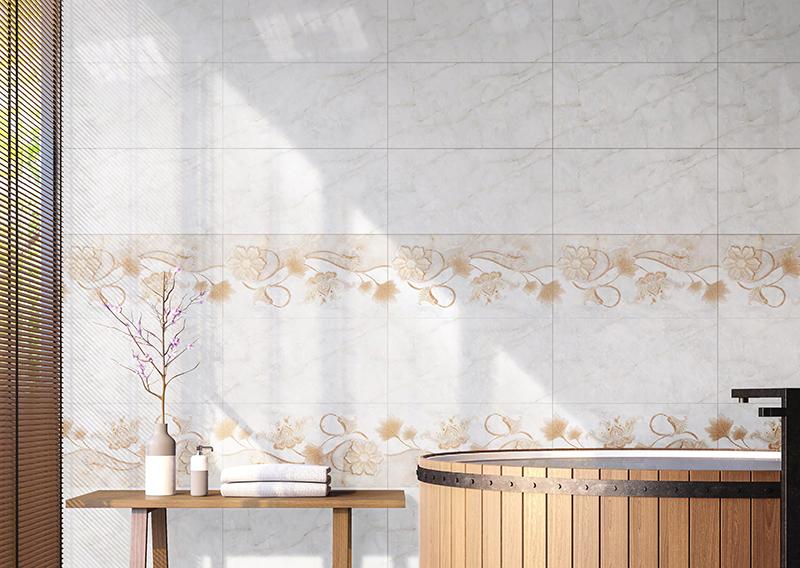 Cách phối màu gạch ốp tường