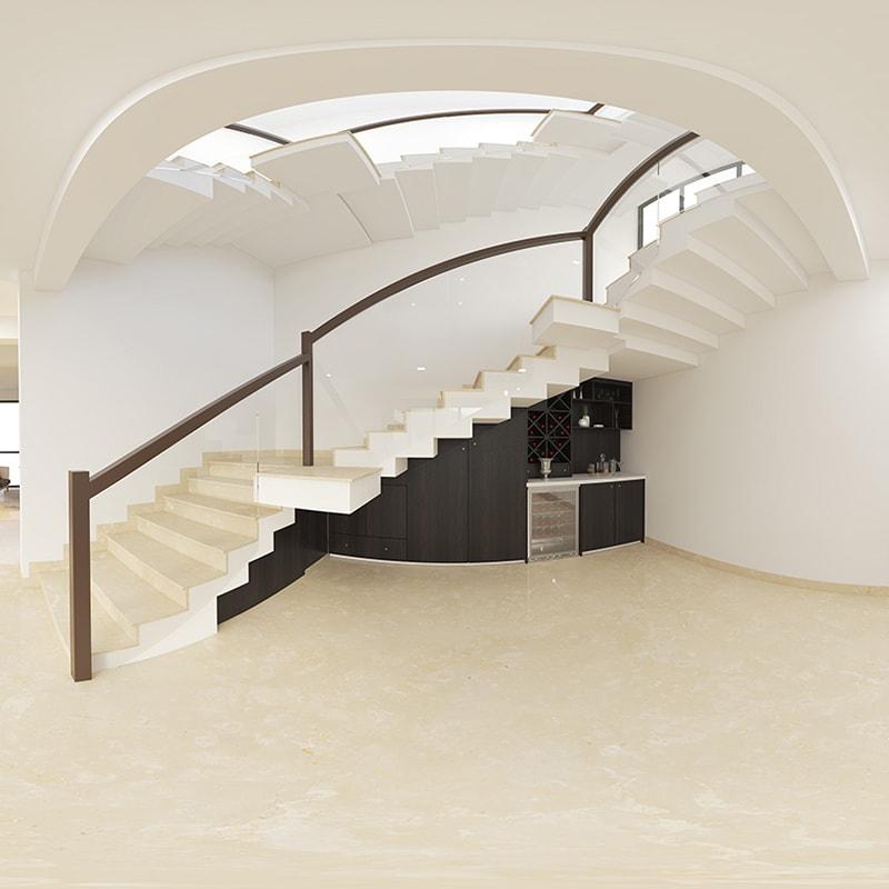 Tiểu cảnh gầm cầu thang nhà ống hiện đại