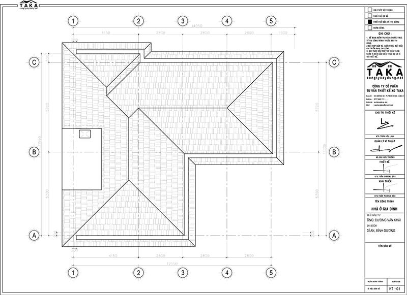 Bản vẽ mặt bằng biệt thự 11x12m 1 trệt 1 lầu