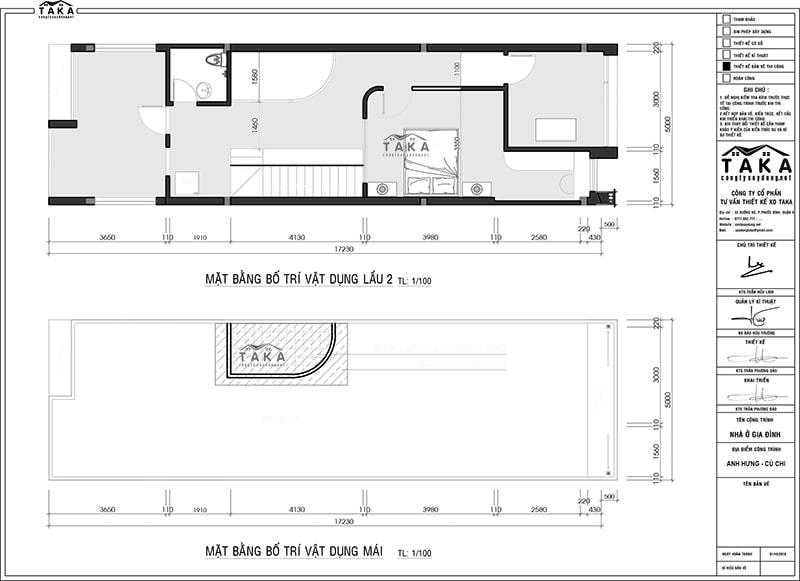 Bản vẽ mặt bằng nhà phố 2 mặt tiền 5x17m