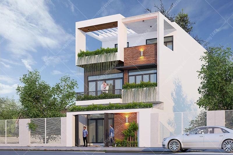 Thiết kế biệt thự phố 8x15m 3 tầng hiện đại