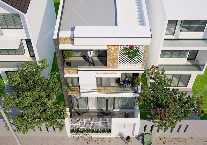 Thiết kế biệt thự phố 7x13m hiện đại