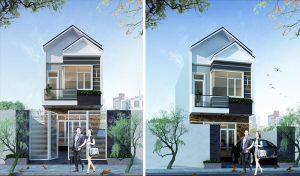 Thiết kế nhà 2 tầng 60m2 5x12m