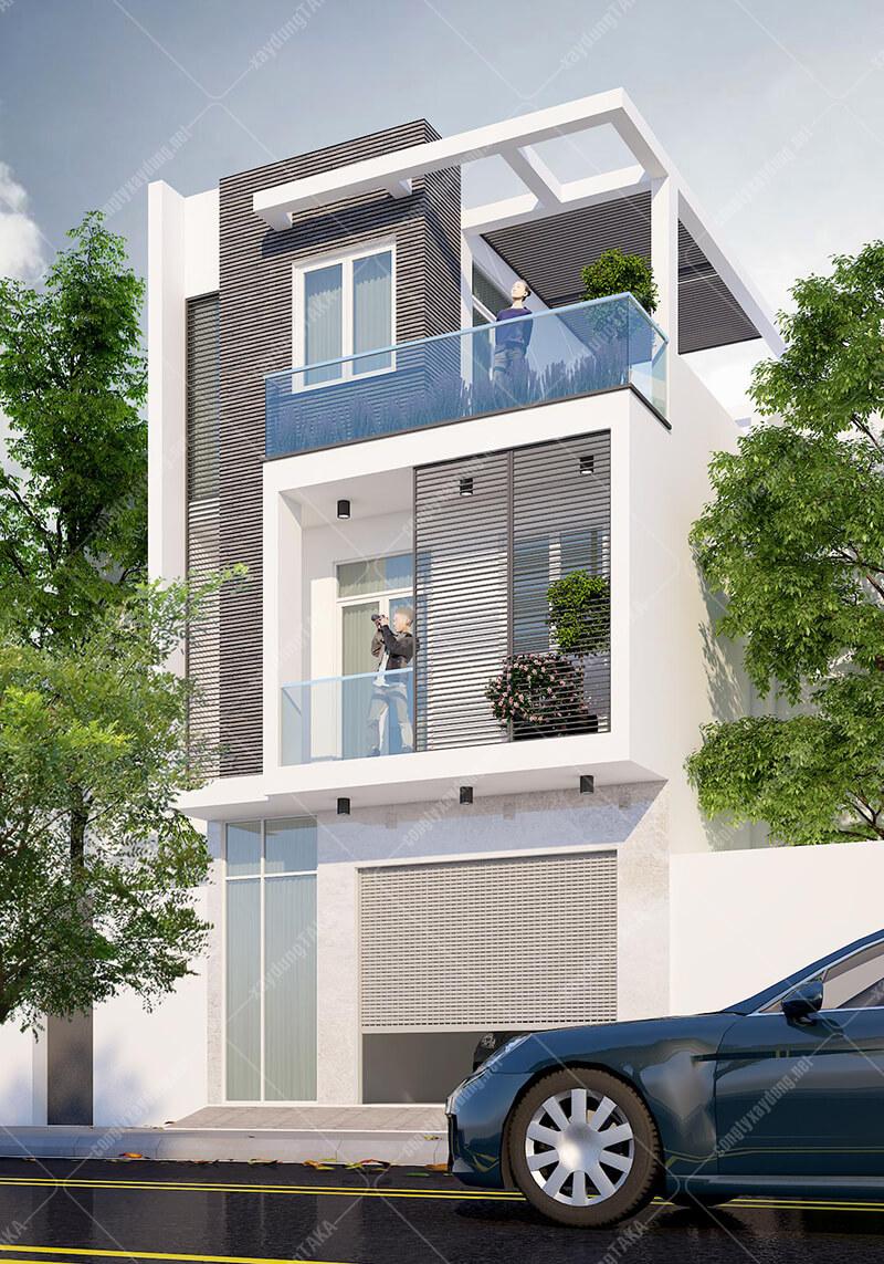 Thiết kế nhà ngang 6m dài 11m 3 tầng hiện đại
